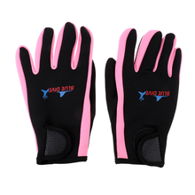 Wetsuits Gloves 1.5mm Premium Neoprene Scuba Diving Surfing Snorkeling Five Finger Glove (Pink/Black)