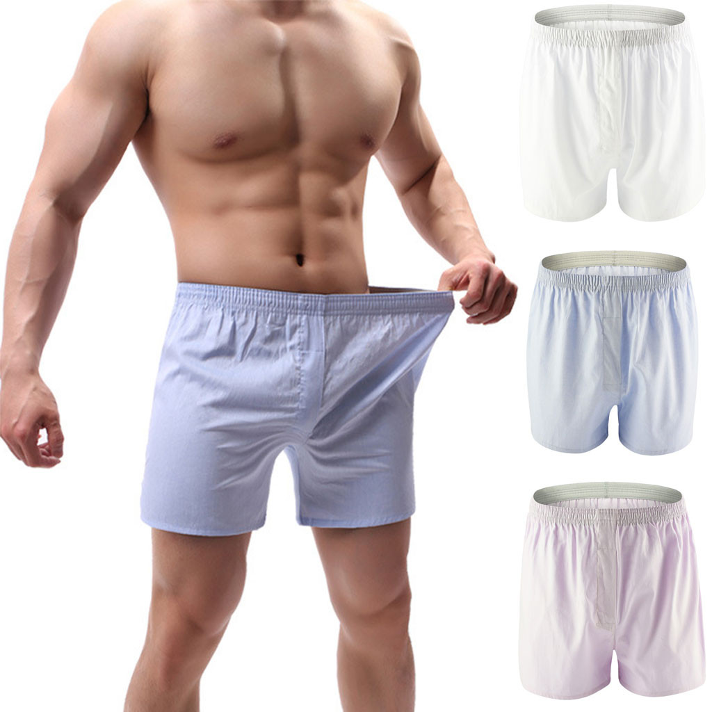 men's underwear cotton comfortable boxer jockstrap Men's Home Pants Soft Underpants Knickers Shorts Sexy Underwear