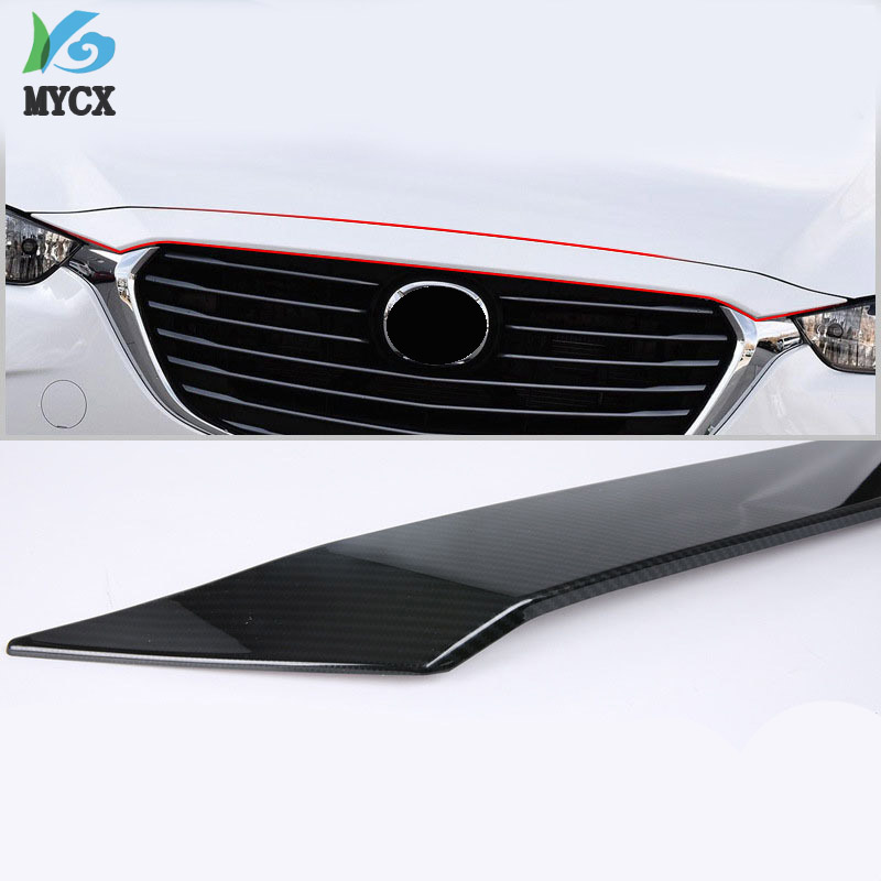 For <font><b>Mazda</b></font> CX-3 <font><b>CX3</b></font> 2018 2019 <font><b>accessories</b></font> ABS Chrome Front Grille Hood Engine Cover Trim Exterior Parts Chromium Styling image
