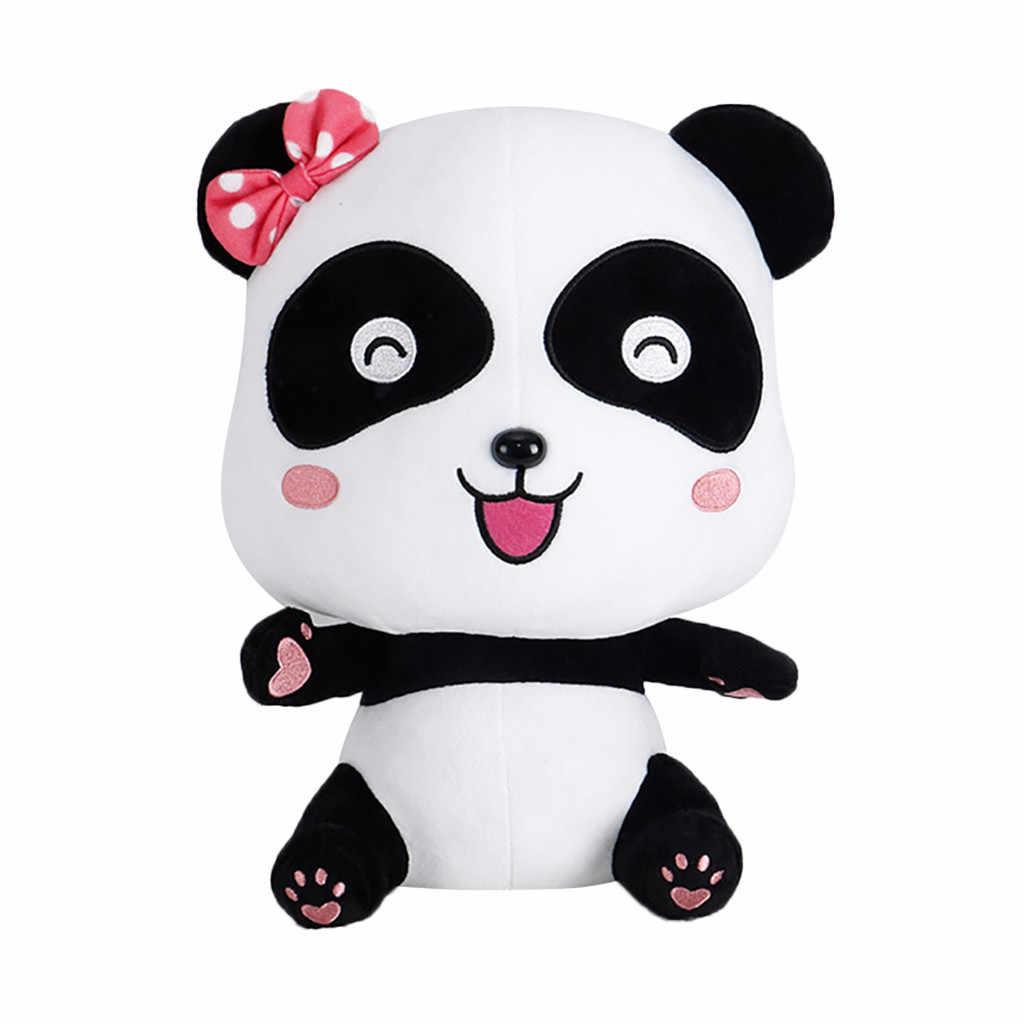 ビビッド面白いパンダぬいぐるみソフト漫画動物黒と白のパンダぬいぐるみソフトぬいぐるみパンダギフトプレゼント人形玩具 # b