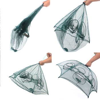 4-20 Hole Automatic Umbrella Nylon Fishing Net Lobster Cage Folding Crab Fish Trap Casting Net Casting Folding Fishing Net
