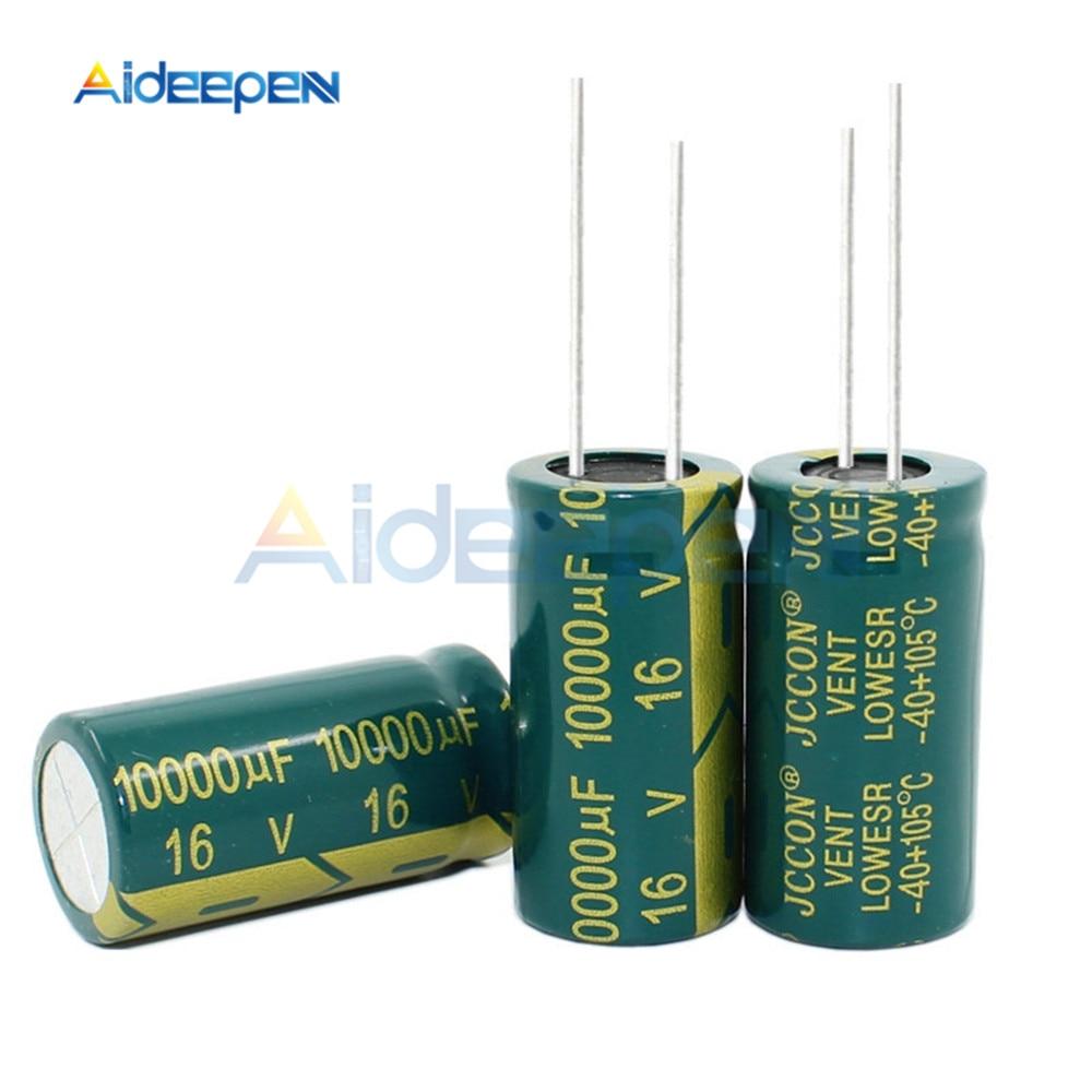 5PCS 16V 10000UF 16*30MM Aluminum Electrolytic Capacitor 16x30MM