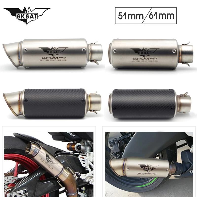 motorcycle exhaust muffler 51mm 61mm pitbike escape project for suzuki bandit 600 katana gsx600f burgman 400 intruder vl 1500