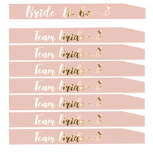 Hen Party Team Bride To Be Sash Bridal Shower Bachelorette Party Decoration Supplies