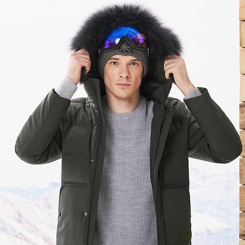 10XL 8XL 브랜드 의류 재킷 두꺼운 유지 따뜻한 남자는 재킷 아래로 고품질 모피 칼라 후드 재킷 겨울 코트 남성