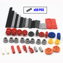 130 pcs Building Blocks MOC Technic Parts bricks Technic Gear series Compatible With Lego for kids boys toy cheap HUATIAN NETTECH Plastic 130PCS TSMA130 Don t put the blocks into his mouth Unisex Self-Locking Bricks 3 years old