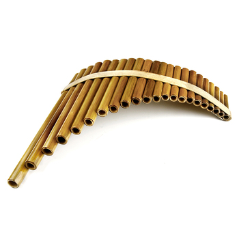 New Arrival C Key Pan Flute Right Hand 22 Pipes Music Instruments Brown Color Chinese Handmade Woodwind Instrument Pan Pipes