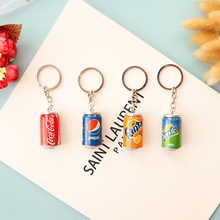 Drink Beverage Cans Keychains Pendant Car Key Holder Bag Phone Key Ring Key Chain Fashion Jewelry Gift For Women(China)