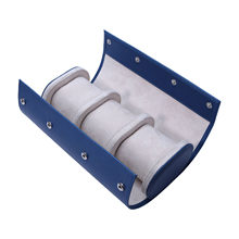 Display-Case Watch Travel Holder-Accessories Collector Jewelry Portable 3slot Blue Roll-Bag