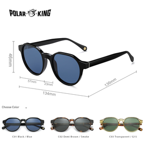 Image 2 - Polarking New Acetate Polarized Sunglasses Brand Vintage Style Men Sun Glasses Handmade For Male Uv400 Protection Shades