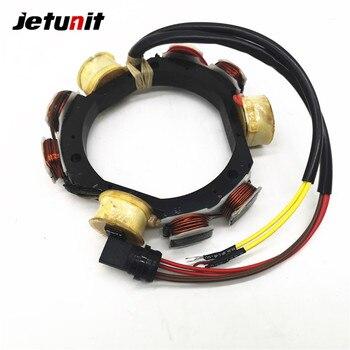 JETUNIT Outboard Stator Assy Generator Magneto For Johnson Evinrude 12 Amp 2 & 3 Cylinder 45-50-60-70HP 173-4560 584560 763763 jetunit 100%premium outboard 9 amp stator assy for mercury 60 85hp 9 amp 2 3