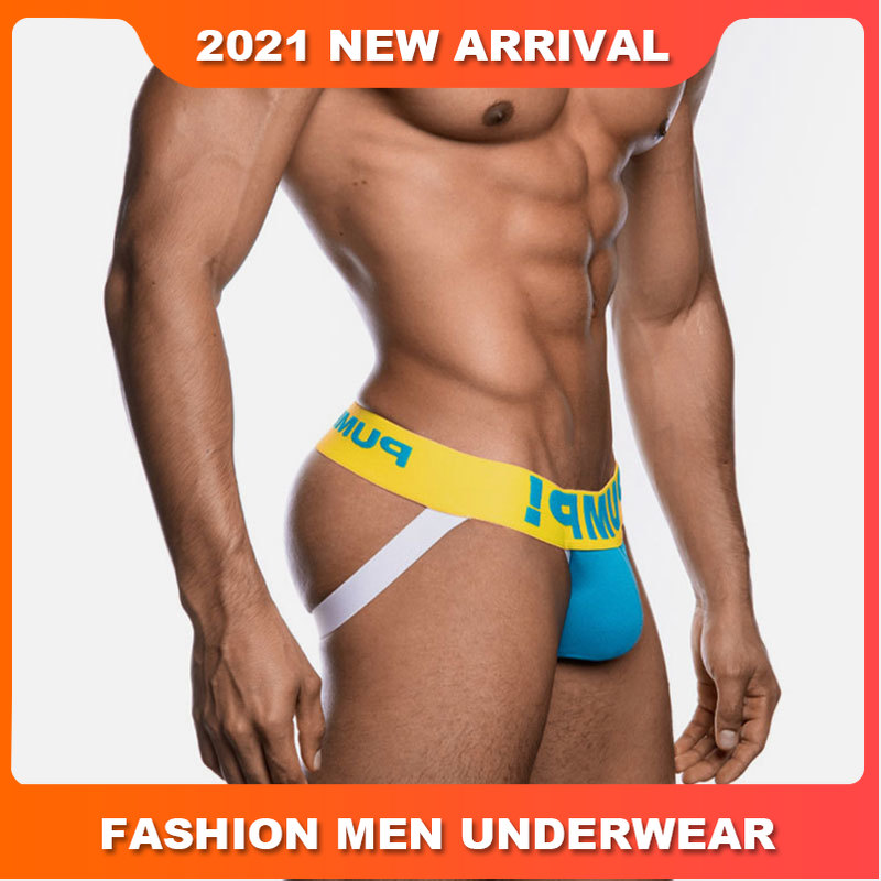 Мужские трусы стринги из мягкого хлопка, желтые тонги с надписью, бандаж, джоки, сексуальное нижнее белье для мужчин, гей-стринги,