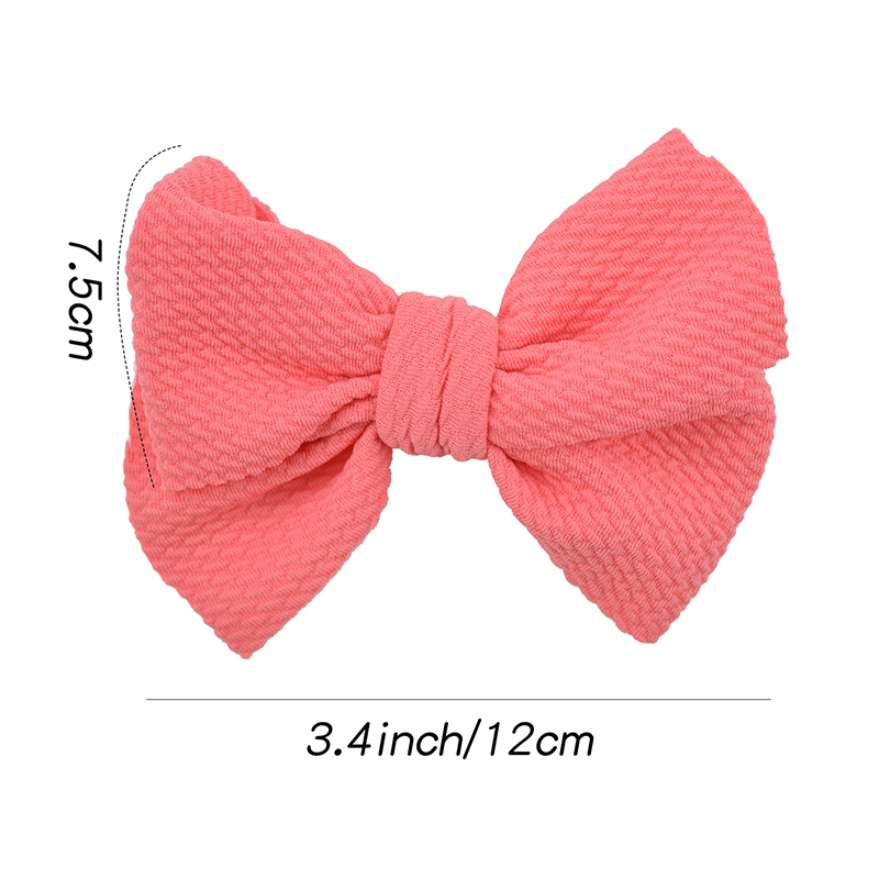 Cute bow knot hairband stretch headband girls candy color rubber band Toddler Turban Head Wrap newborn wedding hair accessories in Hair Accessories from Mother Kids