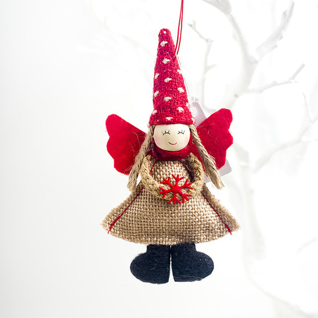 1pcs Angel Doll Pendants Christmas Hanging Ornaments Small Gift for New Year Xmas Party Decoration Baubles SA146 17