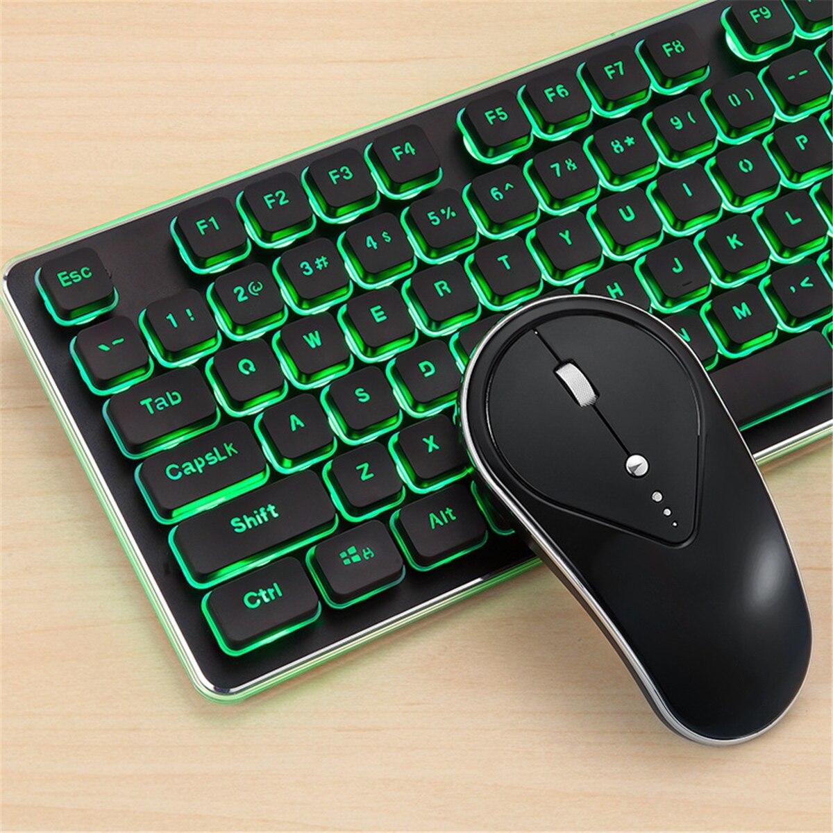 2.4G Wireless Backlit Silent Keyboard And Mouse Combo For PS4 Home Office Laptop Desktop Ergonomic Waterproof Wireless Keyboard