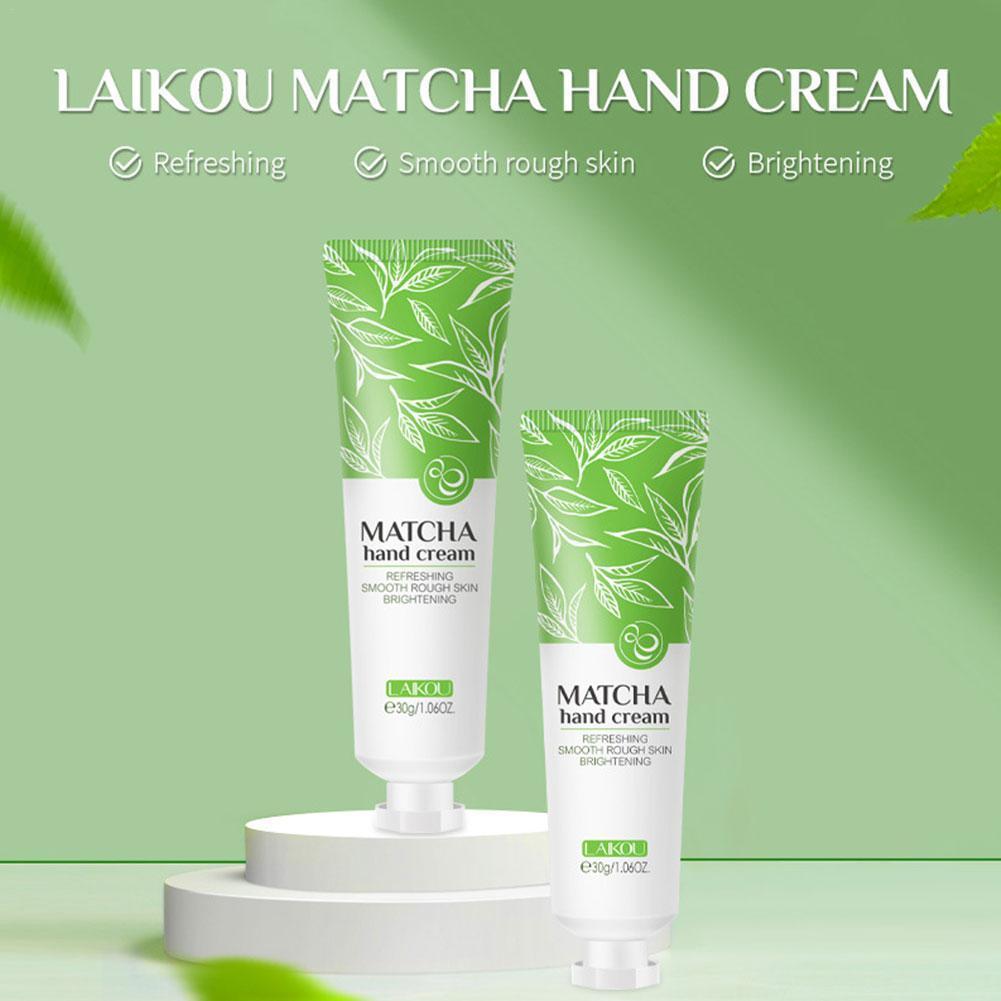 Crema para manos blanqueadora, crema hidratante nutritiva para el cuidado de manos, crema de té verde, 30g, de la piel Reparación, blanqueado fino, O5T0