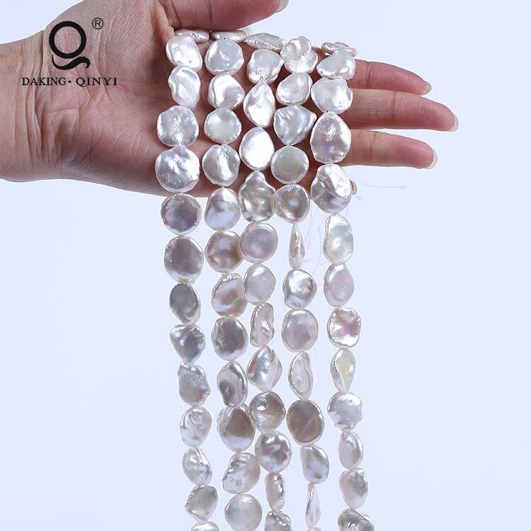 Daking ювелирные изделия AA белые пресноводные натуральные нестандартные жемчужные нити Keshi