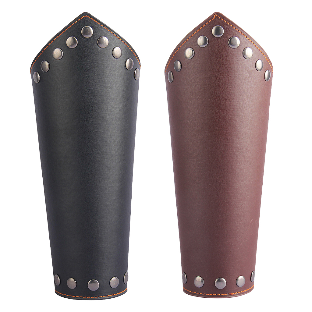 Leather Gauntlet Unisex Arm Guard Medieval Bracer Costume Props Man Women Cool Arm Cover Cosplay Accessory Props