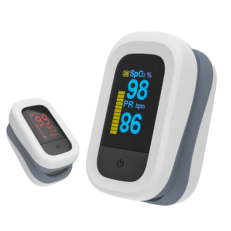 YONGROW Medical Fingertip Pulse with Sound and Light Alarm and OLED Display 6