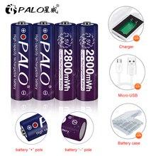 PALO AA 1.5V Li ion şarj edilebilir pil 2800mWh 1.5V lityum AA şarj edilebilir piller 1.5v AA pil uzaktan kumanda oyuncak