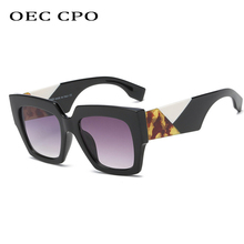 OEC CPO Vintage Italy Brand Square Sunglasses Women 2019 Gradient Sun Glasses Shades For Men Sunglass Ladies Retro O266
