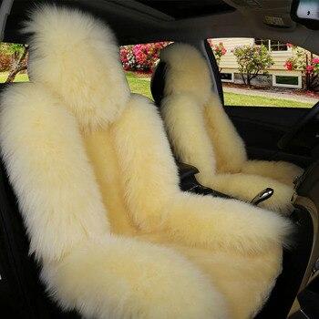 1 piece Car Seat Cover Plush Universal Front Cover Hygroscopic Warm Non-slip Cushion for Auto Interior Decorative Accessories