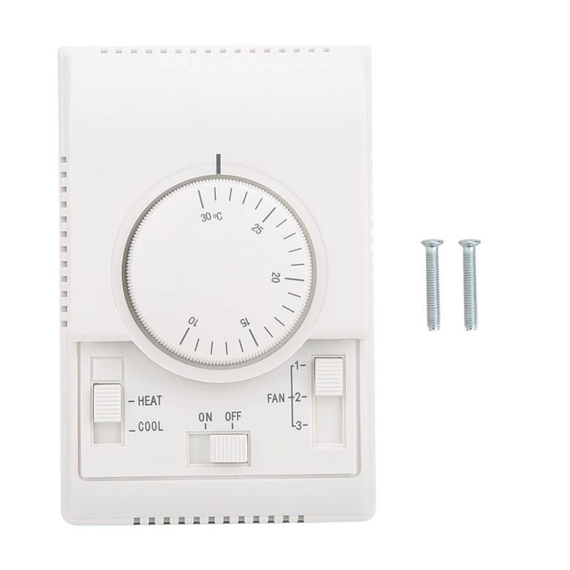 Mechanische Temperatuurregelaar Airconditioner Thermostaat Opbouw 10-30Degree AC220V