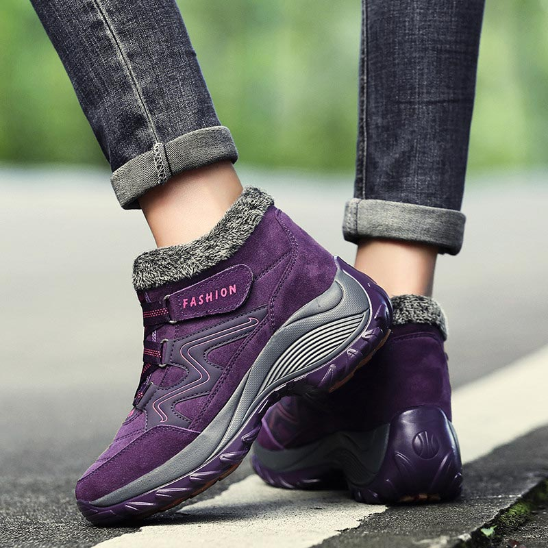 Winter ankle boots women shoes 2019 fashion high heels wedges shoes woman warm plush solid casual