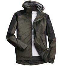 Мужская осенняя и зимняя куртка-дождевик плюс бархатная теплая ветрозащитная Водонепроницаемая быстросохнущая куртка для альпинизма