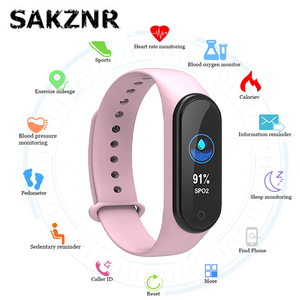 M4 Smart Band Wristband Pedometer Watch Smart Band Bracelet Blood Pressure Heart Rate Fitness Tracker Wrist Watch for Men Women