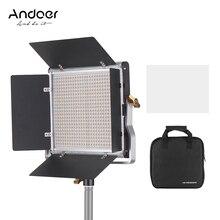 מקצועי Andoer LED וידאו אור 660 נורות אור פנל 3200 5600K w/U סוגר Barndoor ערכת עבור סטודיו וידאו ירי איפור