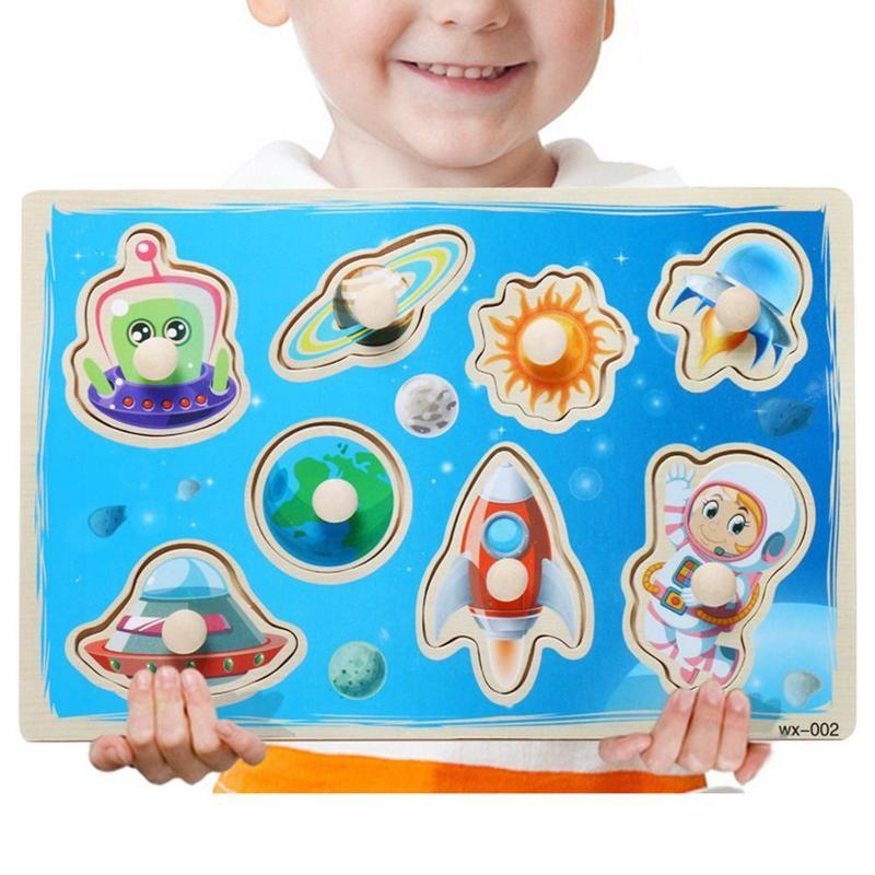 Детский деревянный пазл-пазл с изображением животных, фруктов, безопасные детские деревянные пазлы, лесная ферма, Классические пазлы, обучающая игрушка