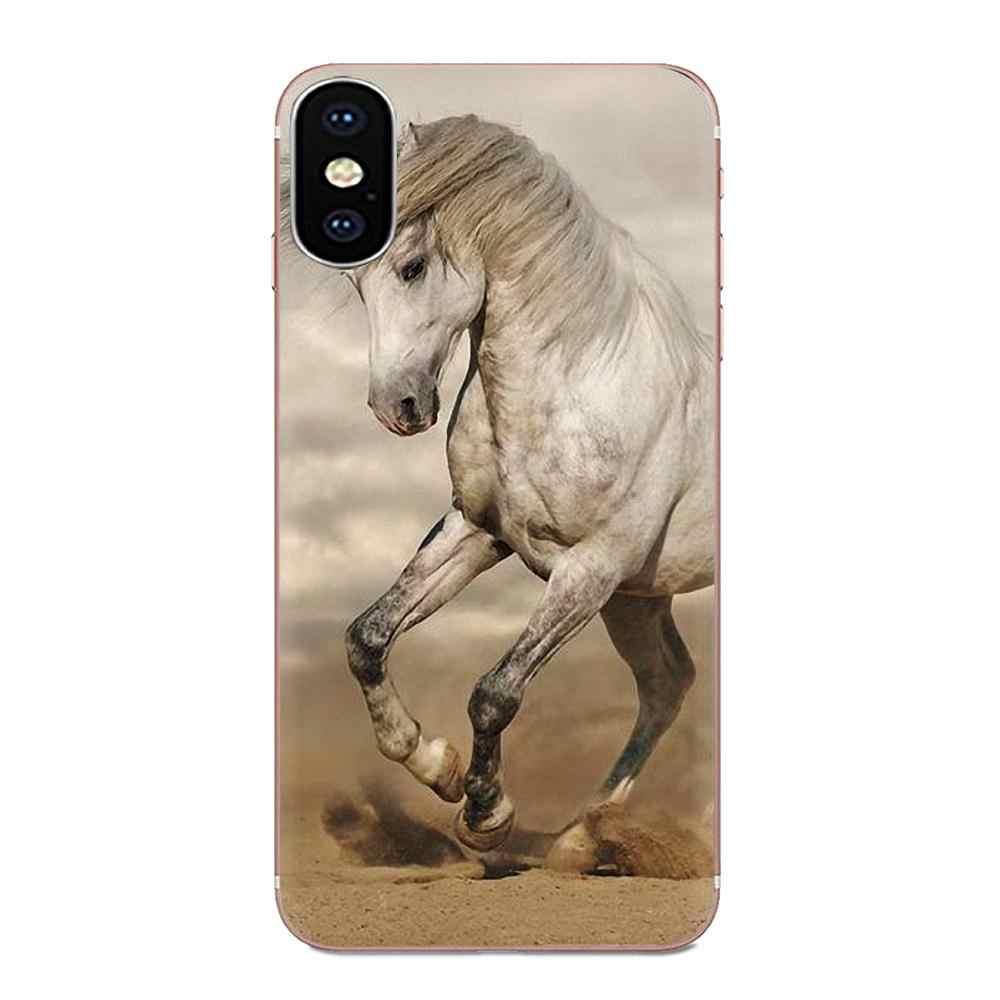 لينة شفافة الجلد غطاء الحصان ل Xiaomi Redmi ملاحظة 2 3 3S 4 4A 4X5 5A 6 6A الموالية زائد