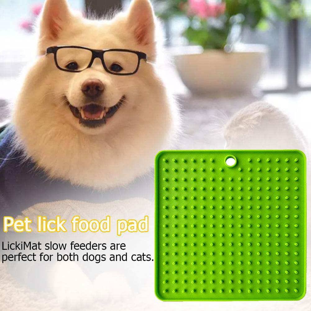 Pet Dog Puppy Slow Feeder Food Bowl Anti-Choking Slow Down Eating Feeder Feeding Dish Plate Lick Pad Mat Dogs Supplies