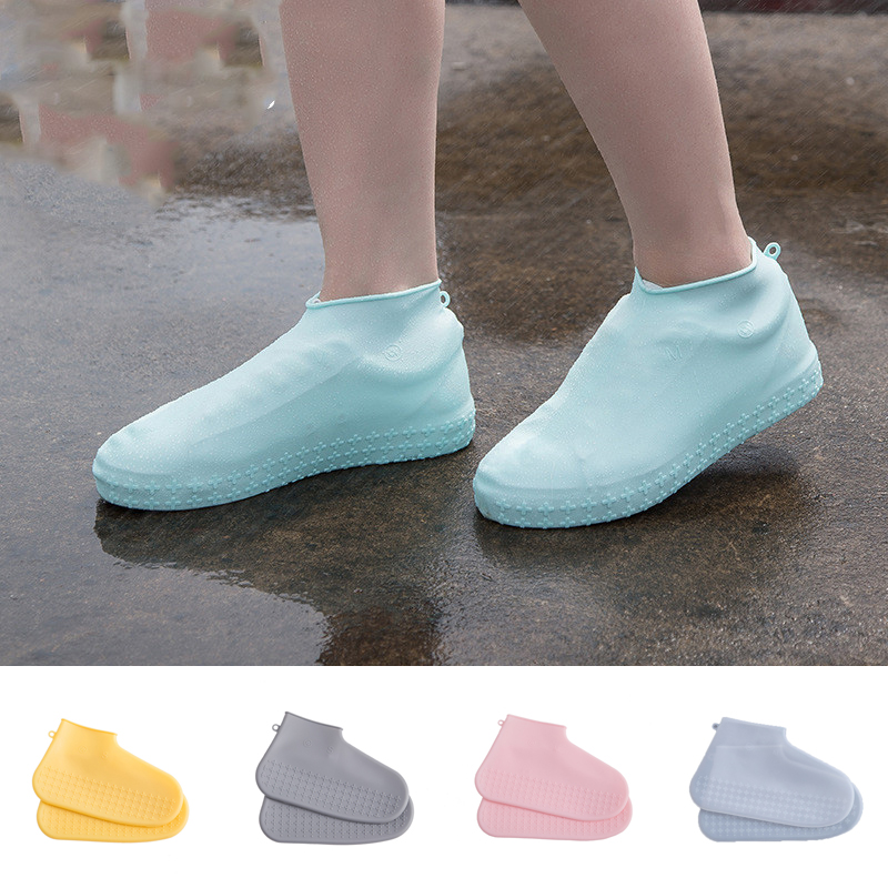 2019 New Arrival Reusable Silicone Shoe Covers Outdoor Non-slip Waterproof Thick Rain Boots Overshoes Protector Shoe Accessories