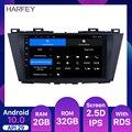Автомобильный мультимедийный плеер Harfey, Android 10,0, 2 Гб ОЗУ 32 Гб ПЗУ, 2009, 2010, 2011, 2012, Mazda 5 с четырехъядерным процессором, Wi-Fi, GPS, автомагнитола