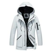 Kış kapşonlu kadife erkek Parka ceket rüzgarlık kaliteli kalın rüzgar geçirmez rahat ceket erkekler 2020 sıcak erkek Parkas 5XL