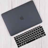 Caso duro de plástico fosco para macbook air 11 13 polegada a2179 a1466 pro 13 16 polegada barra toque a2289 a2159 a2141 caso teclado capa