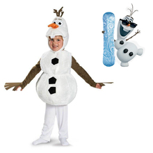 Cosplay Olaf Costume for Boy Girls Snow Queen Halloween Toddler Dress Up Anime Fancy Kids Cute Cartoon Snowman Carnival Party