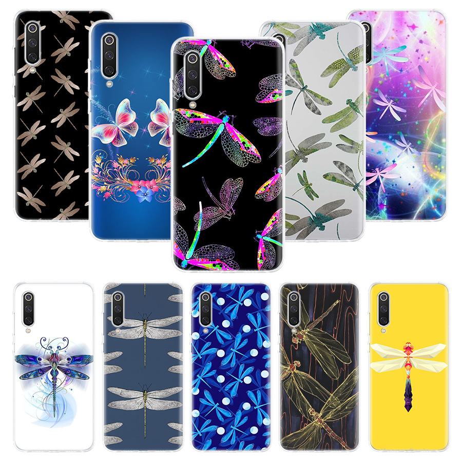 Dragonfly Animal Art Case For Xiaomi Redmi Note 10 9 9S 8 7 6 8T 8A 7A 6A S2 K30 K20 MI 9 8 CC9 F1 Lite Pro Soft TPU Phone Cover