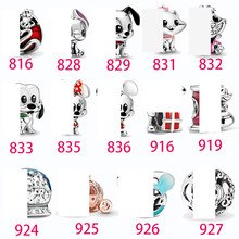 Chrysaor s925 Sterling Silver Charms Catoon Cute anime characters park world Series Beads Fit Original Pandora Bracelet Jewelry