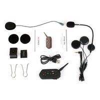 1200m helmet Bluetooth Interphone walkie talkie full duplex Bluetooth walkie talkie E6 single package Helmet Headsets     -