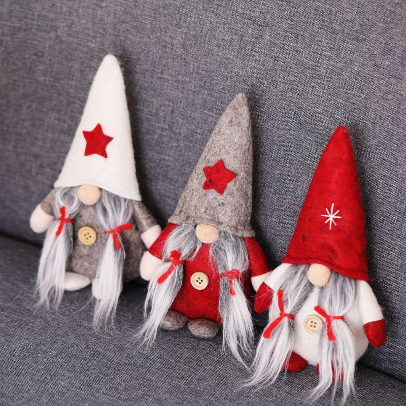 Xmas Plush Gnome Doll Ornaments Christmas Santa Figurine Home Decoration USA