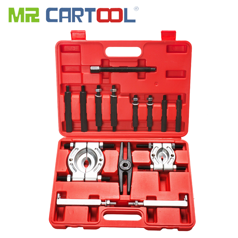 MR CARTOOL 14 Pcs Double Disc Puller Disassembly Tool Set Gearbox Steering Wheel Disassembly Bearing Puller Disassembly Group