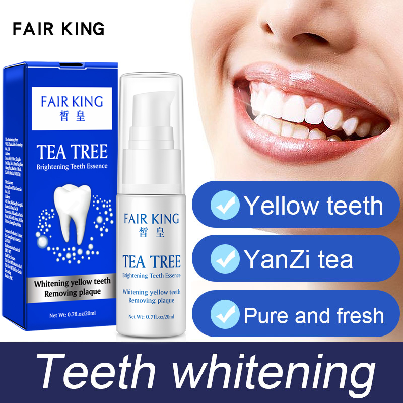 FAIR KING Tea Teeth Whitening Oral Hygiene Essence Cleaning Serum Removes Plaque Stains Tooth Bleaching Dental Tools Toothpaste
