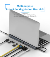 NEW 10in 1 USB3.0 hub Ethernet connection Type C PD for smartphone Huawei MacBook expansion docking station 4K HDMI SD TF LAN