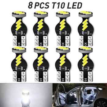 8x T10 W5W LED Canbus Bulb for BMW Mini Cooper R56 R53 E90 E46 F20 F10 E39 Z4 Car Interior Dome Light Trunk Lamp Parking Lights image