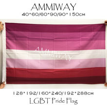 AMMIWAY Jede Größe LGBT Regenbogen Homosexuellen Lippenstift Kuss Lip Lesben Stolz Flagge Lesben Homosexuell Einseitig oder Doppelseitig Fahnen Banner