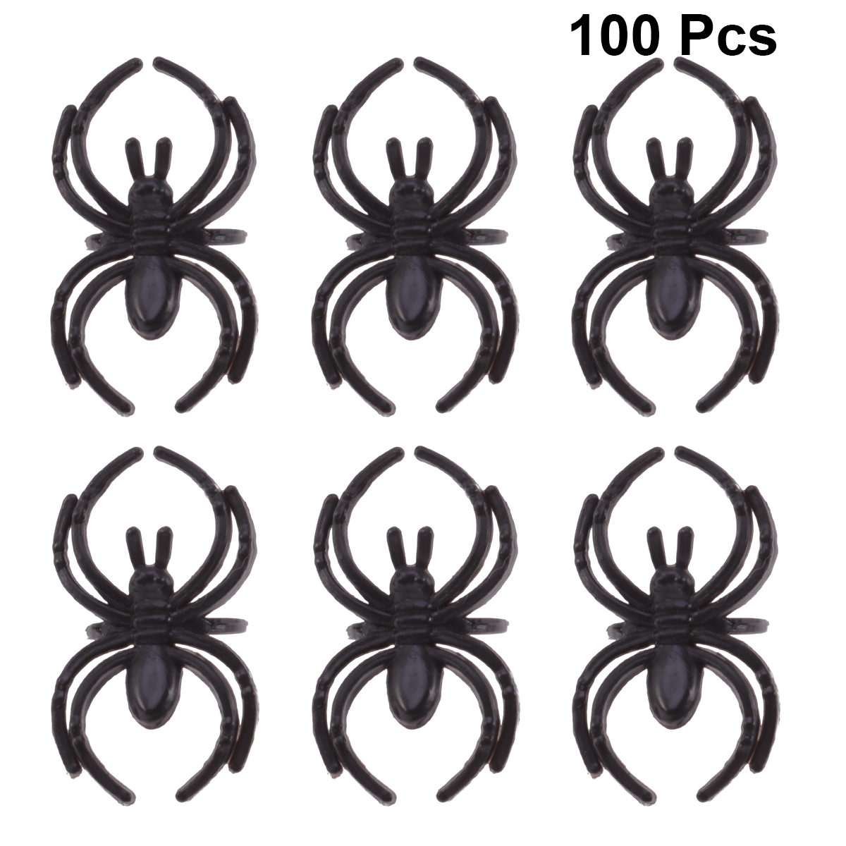 Scary Spiders Pk 8 Halloween Decorations Spooky party Accessories