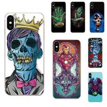 Cell Phone Case Cover Skull Vampire For Xiaomi Redmi Mi 4 7A 9T K20 CC9 CC9e Note 7 9 Y3 SE Pro Prime Go Play(China)